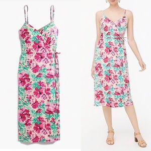 NWT J.Crew Floral Cotton Wrap Dress Size 10